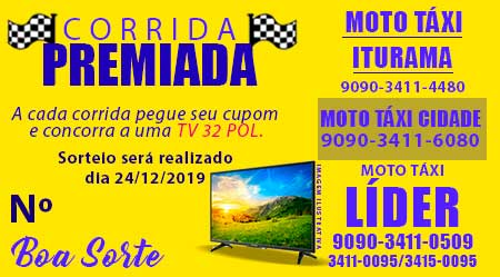 GANHE UMA TV NA PROMOÇÃO CORRIDA PREMIADA DO MOTO TÁXI LÍDER